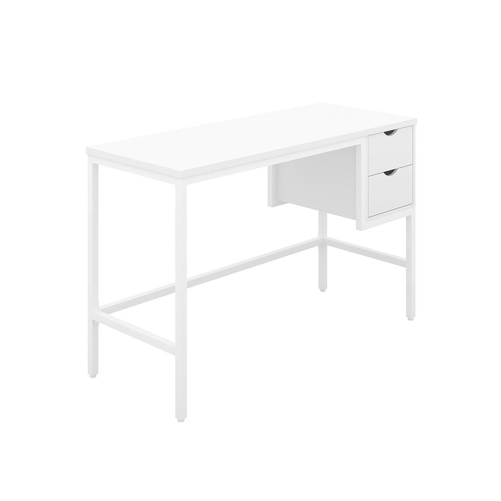 Soho Desk 01, 25mm White Top, White Framework