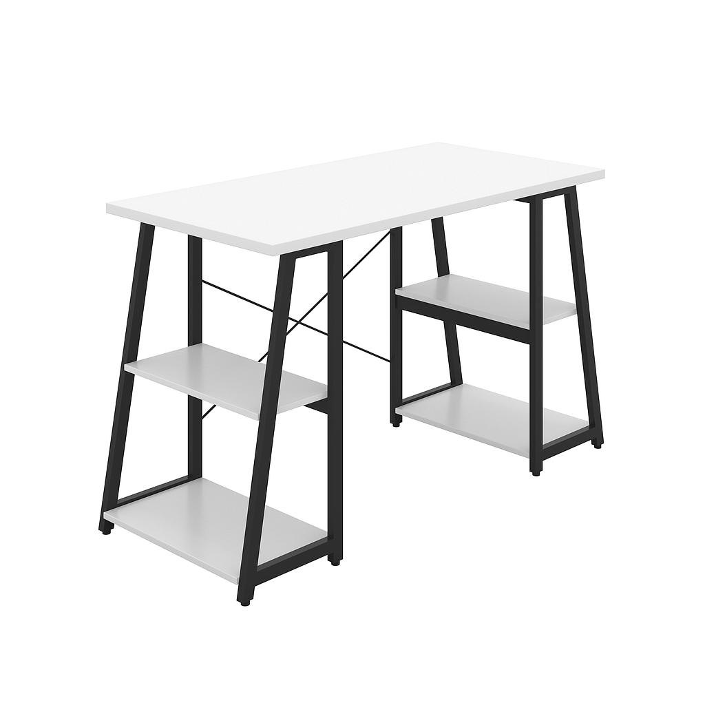 Soho Desk 05, 25mm White Top, Black Framework