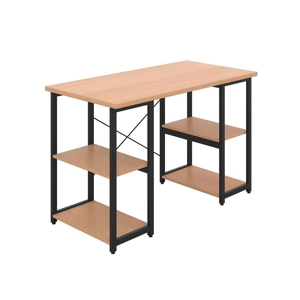 Soho Desk 07, 25mm Beech Top, Black Framework