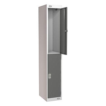 2 Door Locker 300X450X1800 Dark Grey Door